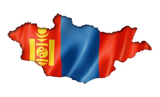 Mappa della bandiera della mongolia