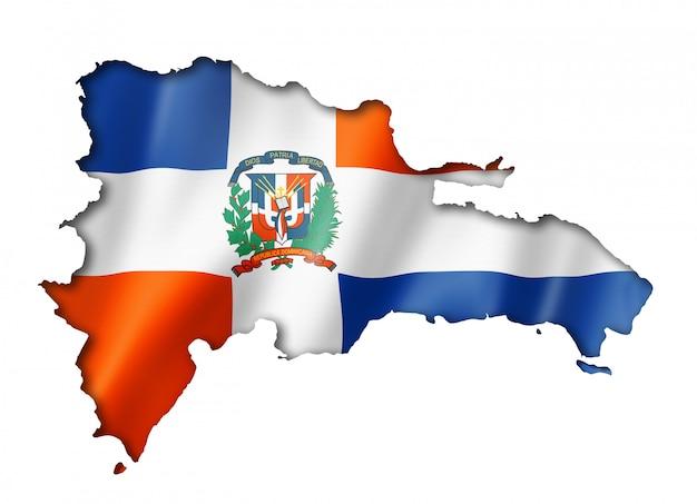 Mappa della bandiera della repubblica dominicana