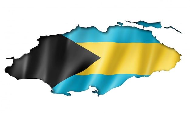 Mappa della bandiera delle bahamas