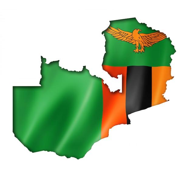 Mappa della bandiera dello zambia
