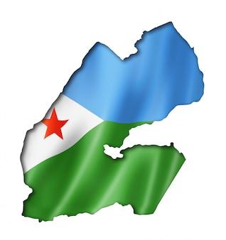 Mappa della bandiera di gibuti