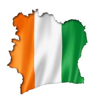 Mappa della bandiera ivoriana