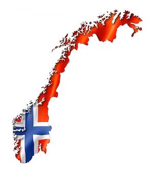 Mappa della bandiera norvegese