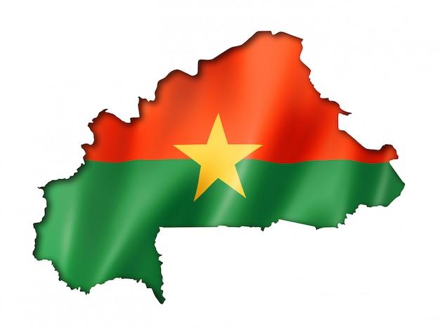 Mappa di bandiera del burkina faso