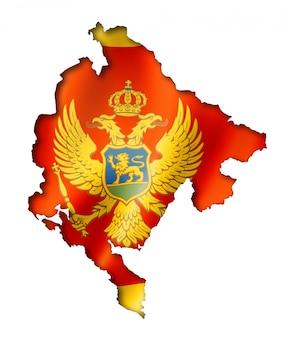 Mappa di bandiera del montenegro