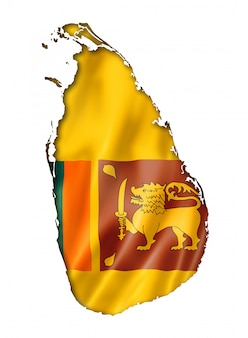 Mappa di bandiera dello sri lanka
