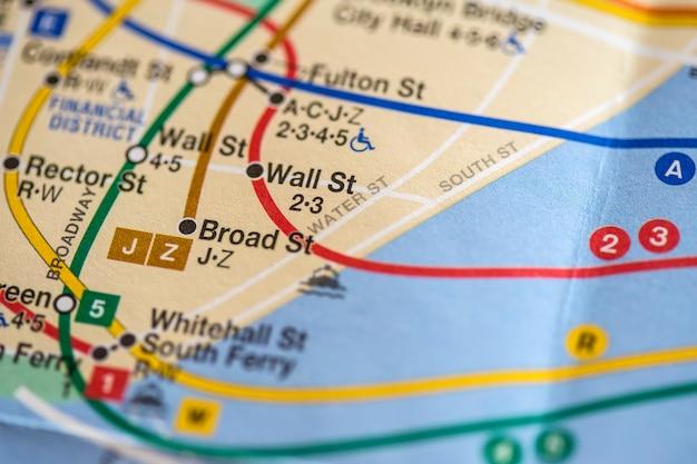 Mappa di new york city
