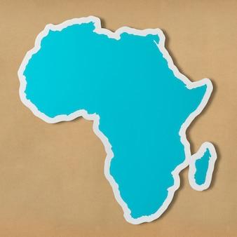 Mappa vuota gratuita dell'africa