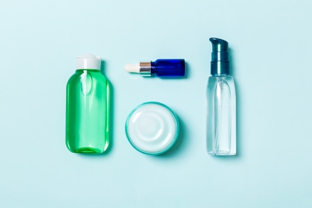 Marchio spa cosmetics, vista dall'alto con spazio di copia