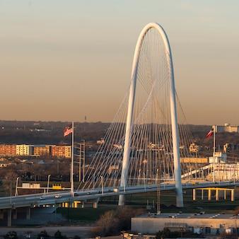 Margaret hunt hill bridge, dallas, texas, stati uniti d'america