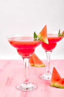 Margarita cocktail all'anguria.