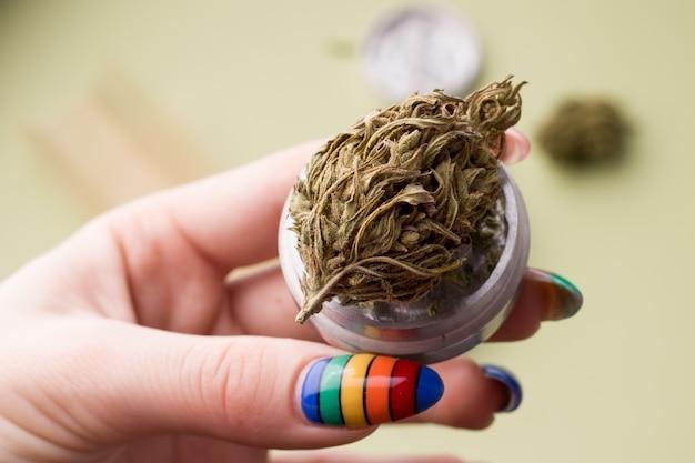Marijuana da vicino in mano