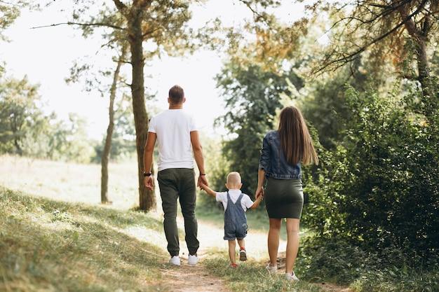 Marito con moglie incinta e il loro figlio