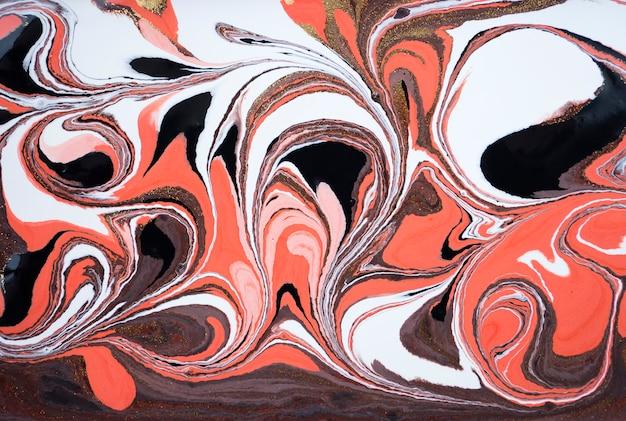 Marmo acrilico astratto. trama di marmorizzazione opere d'arte rosa. polvere d'oro.