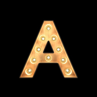 Marquee light alphabet a