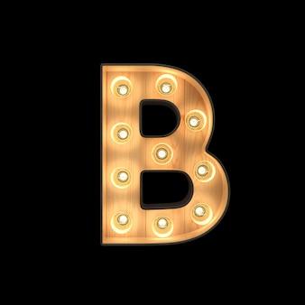 Marquee light alphabet b