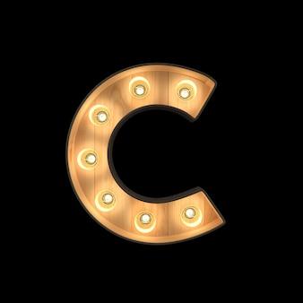 Marquee light alphabet c