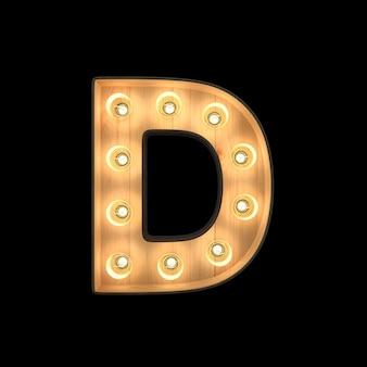 Marquee light alphabet d