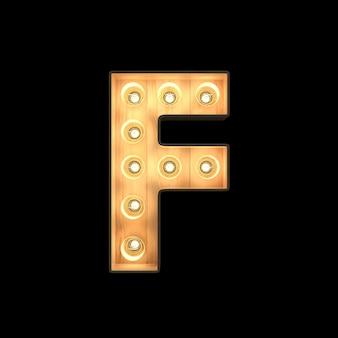Marquee light alphabet f