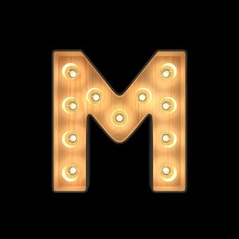 Marquee light alphabet m