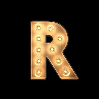 Marquee light alphabet r