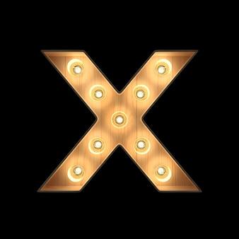 Marquee light alphabet x