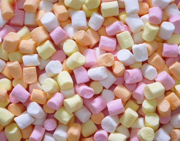 Marshmallow colorato pastello