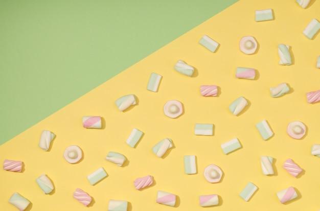 Marshmallow piatto disteso