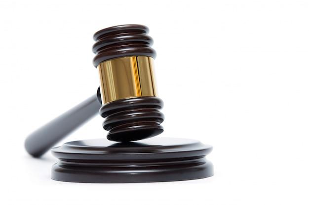 Martelletto del giudice in legno