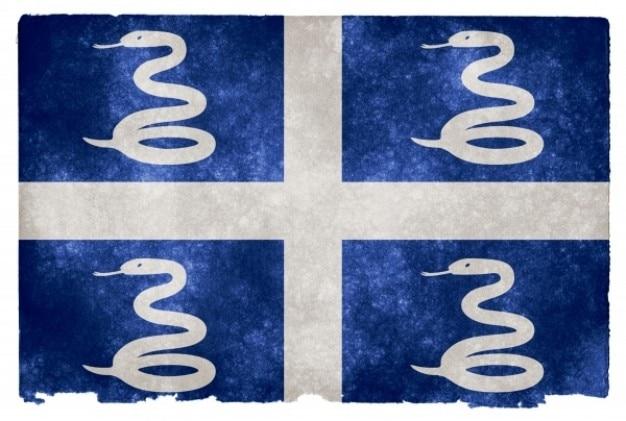 Martinique grunge flag