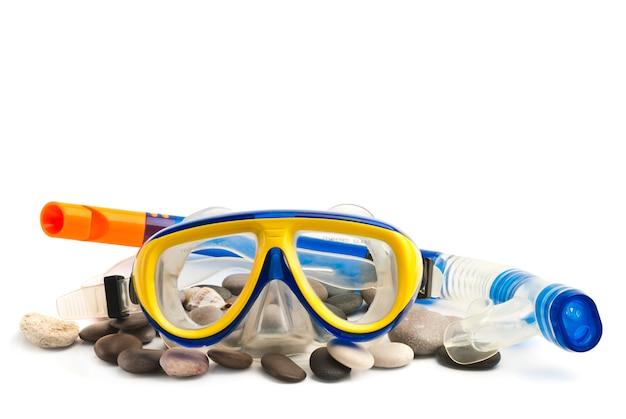 Maschera e tubo per immersioni subacquee