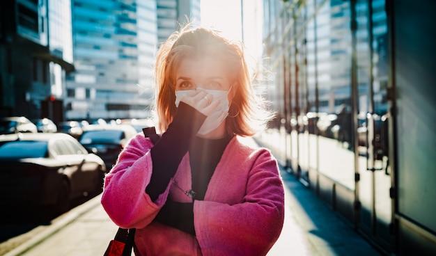 Maschera turistica sulla metropoli della città.