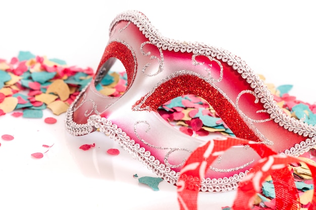 Maschera veneziana rossa