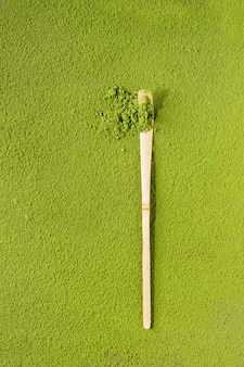 Matcha in polvere di tè verde