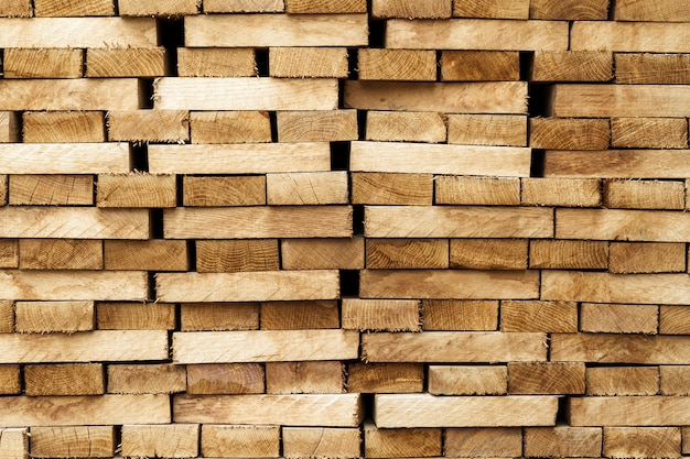 Materiale in legno di legno.