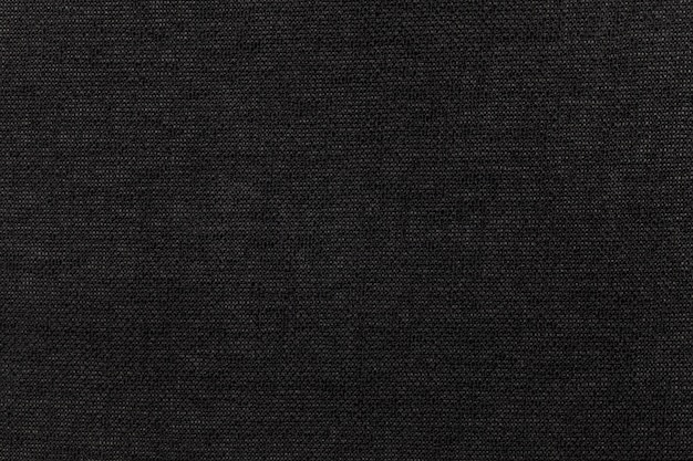 Materiale tessile nero