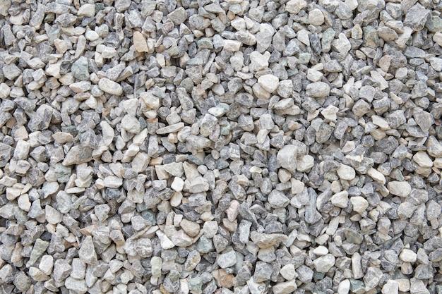 Materiali da costruzione in pietra schiacciati.