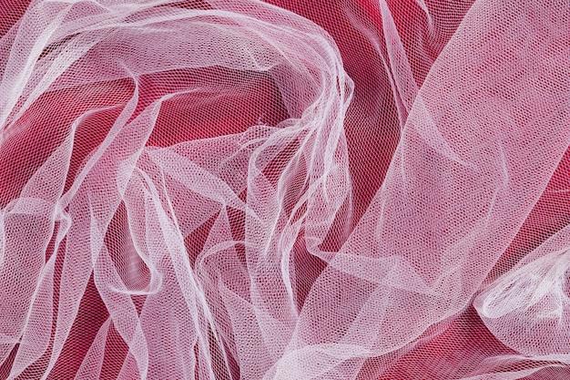 Materiali decorativi in tessuto interno trasparente
