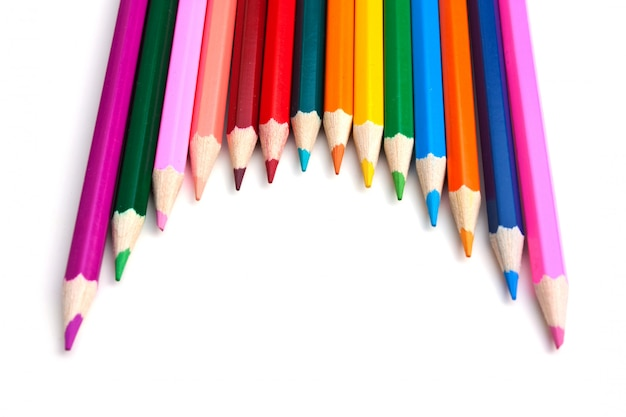 Matite colorate isolate