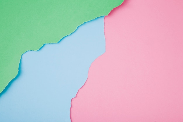 Matrice di carte strappate colorate