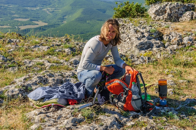 Mattina al culmine della montagna