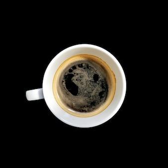 Mattina del caffè nero sulla macchinetta del caffè