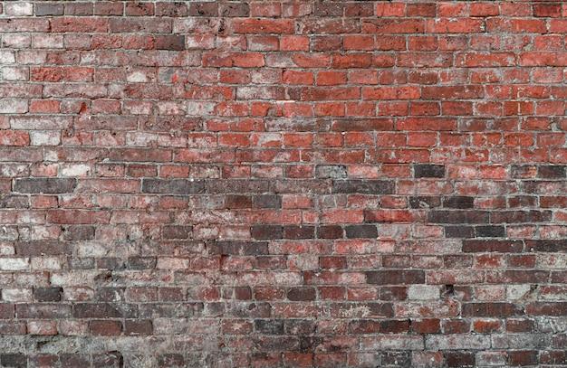 Mattone rovinato rosso della parete di struttura del fondo vecchio
