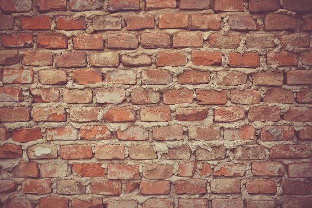Mattoni e malta muro
