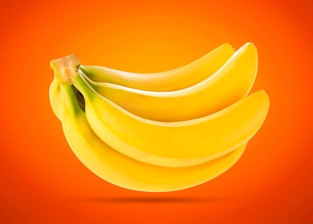 Mazzo di banane isolate con il percorso di ritaglio