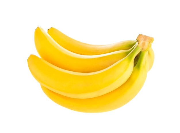 Mazzo di banane isolate su bianco