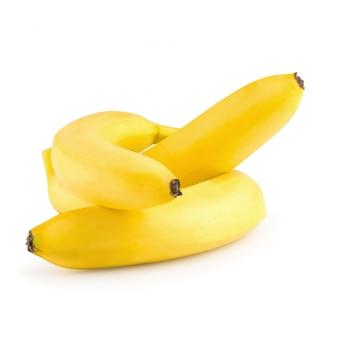 Mazzo di banane isolato su uno sfondo bianco