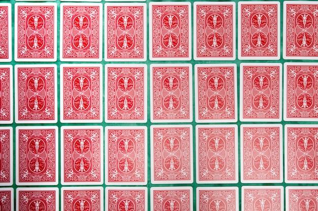Mazzo di carte capovolte
