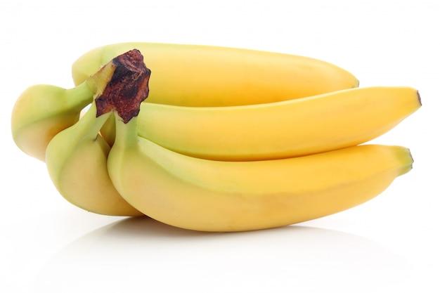 Mazzo di frutti di banana maturi isolati