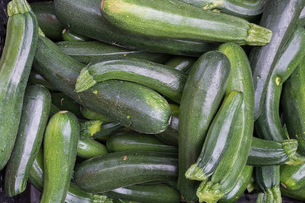 Mazzo di zucchine verdi aeree